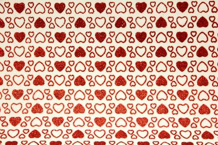 background of handmade hearts glitter chip photo