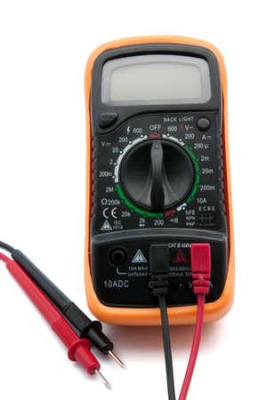 contador electrico: medidor de luz sobre un fondo blanco