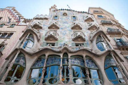 antoni: home it Batlló  by Antoni Gaudi in Barcelona Stock Photo
