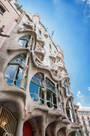 home it Batlló  by Antoni Gaudi in Barcelona Stock Photo