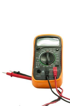 contador electrico: metro el�ctrico sobre un fondo blanco