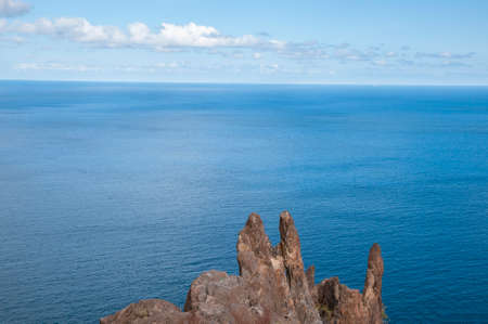 rocks overlooking the sea in Tenerife in the Canary Islands Stock Photo