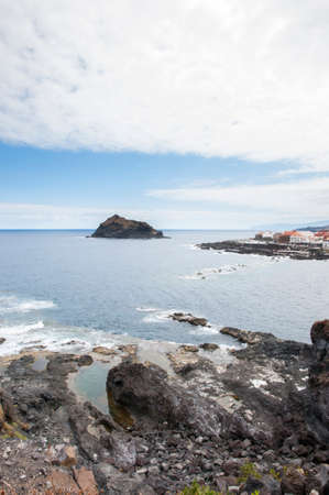 rocky beach of Tenerife in the Canary Islands