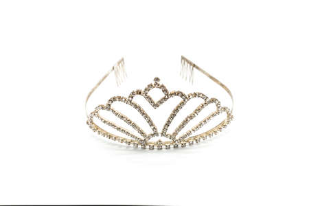 jeweled: crown of diamonds on a white background