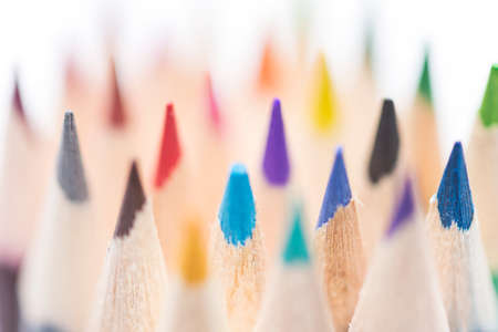 colored pencils on a white background Stock Photo