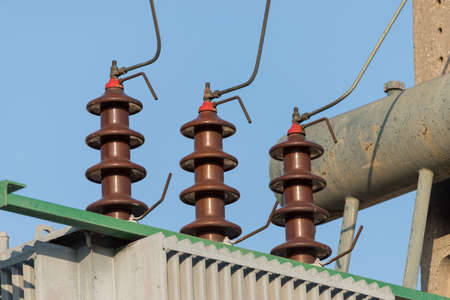 amperage: electric industry where they get all the energy Stock Photo