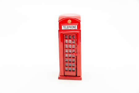 telephone booth: telephone booth uk on a white background