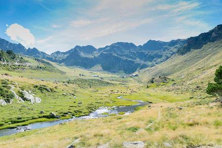andorra: Spring mountain landscape in Andorra La Vella