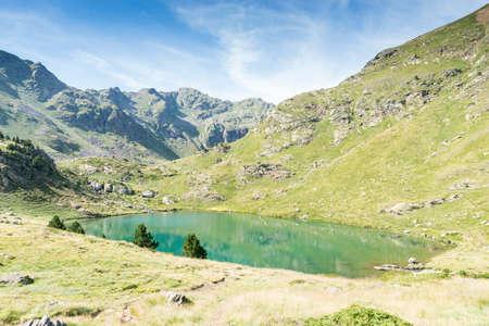 andorra: lakes of Tristaina in Andorra La Vella