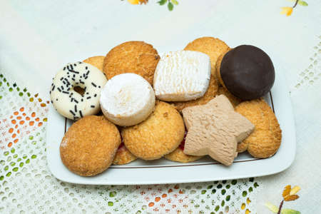 assortment of cookies on the plate