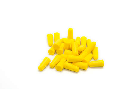 earplugs on a white background