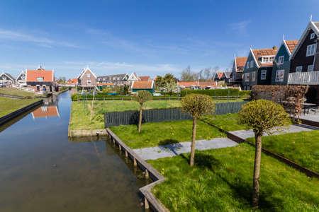 marken: Panoramic shot of village Marken in Netherlands