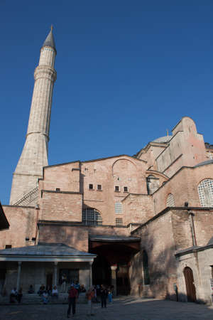 hagia sophia: Hagia Sophia church transformed to mosque, Turkey, Istambul Stock Photo