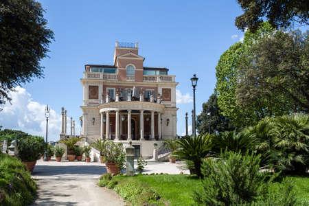 Borghese Gardens during spring
