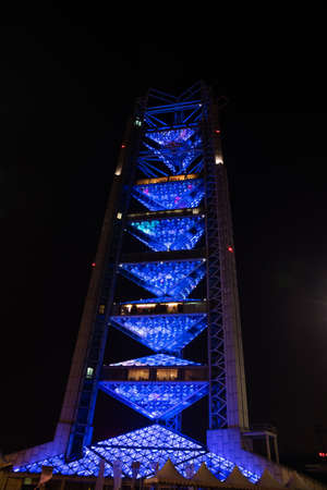 piscina olimpica: Broadcasting Tower in Beijing Olympic Village China