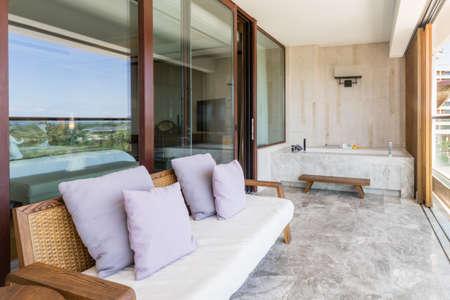 ensuite: Luxury ensuite 5 star balcony in bedroom