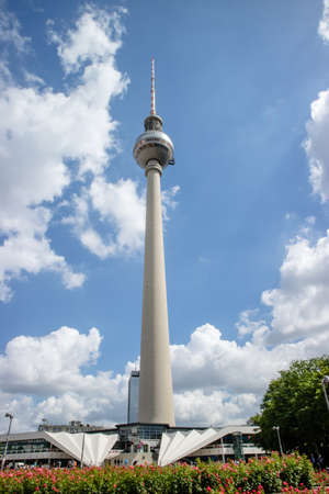 Berliner Fernsehturm Tower in Berlin, Germany Reklamní fotografie