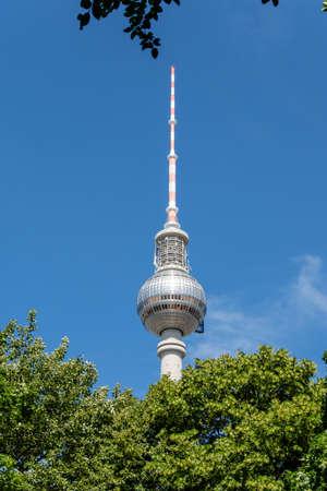 Berliner Fernsehturm Tower in Berlin, Germany Stock Photo