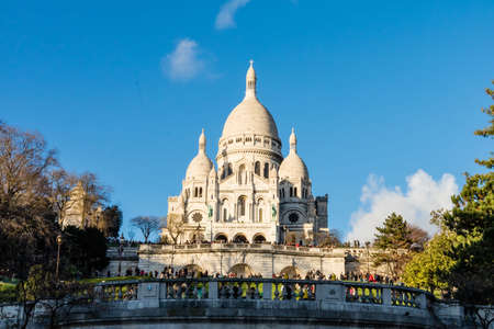 Sacred Heart Church from Montmartre in Paris