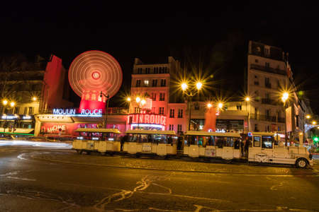Moulin Rouge and Pigalle place in Paris