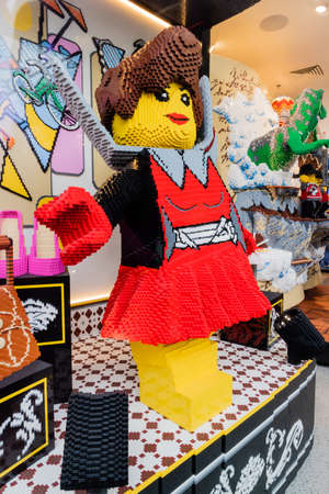Lego exhibition in a toy shop from Paris