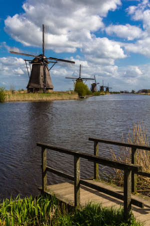 Kinderdijk windmills closed to Roterdam Netherlands