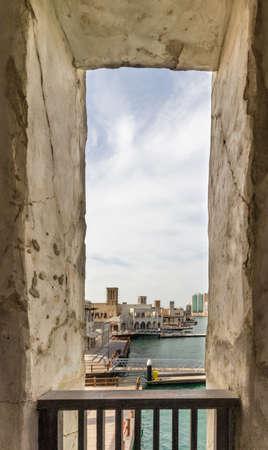Dubai Creek and its traditional heritage village