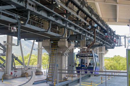 Cable Car to go to Hong Kong Big Buddha on Lantau Island