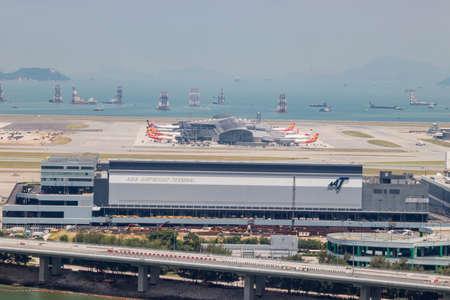 Hong Kong International Airport from the Lantau Island Cable Car