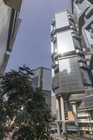 Hong Kong city life and its architecture during day light