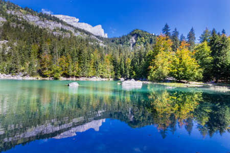"""Lake named """"Green Lake"""" from French Alps"""