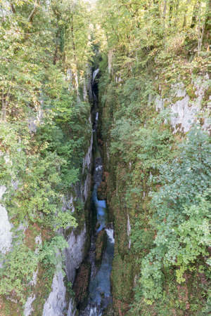 Gorges & waterfalls of Langouette in Planches en Montagnes, Jura in France