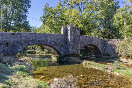 The historical bridge Billin from Nevy Sur Seilly Jura, France