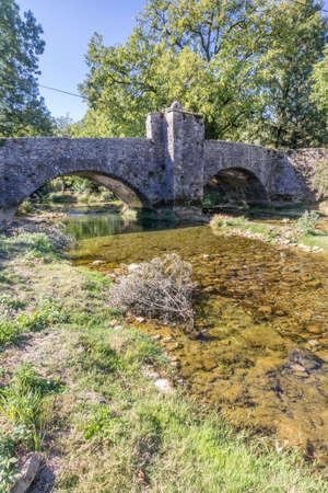 The historical bridge Billin from Nevy Sur Seilly Jura, France
