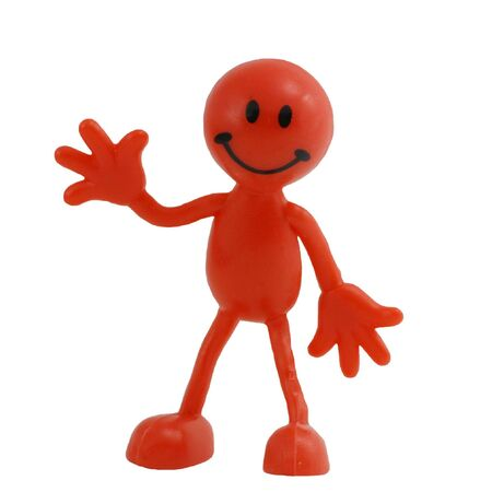 Isolated Red man figure waving