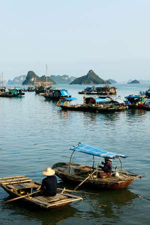 boat in ha long bay, vietnam Stock Photo