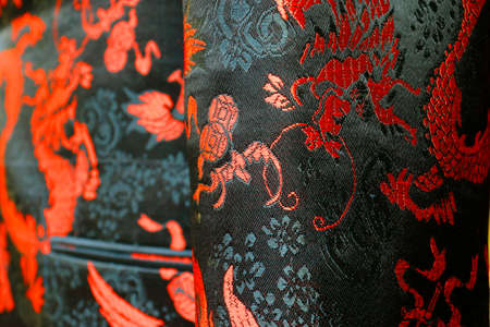 Detail silk chinese costume Stock Photo