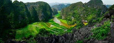 River view of ninh binh Stock Photo