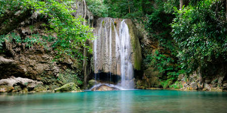 Erawan waterfall, Kanchanaburi, Thailand Stock Photo