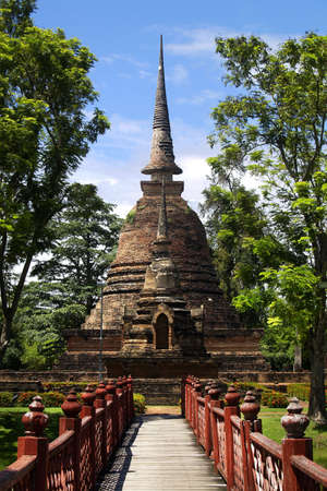 Buddhist temple, in the historical park of Sukhothai, Thailand