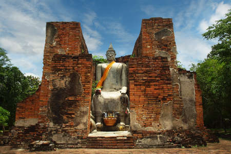 statue of buddha, in the historical park of Sukhothai, Thailand