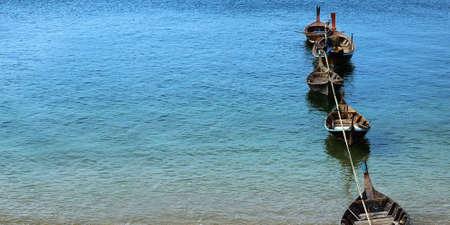 long tail boat in adaman sea