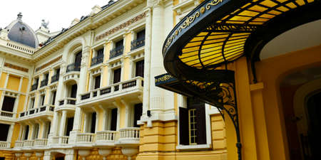 Colonial architecture opera building in Hanoi, Vietnam