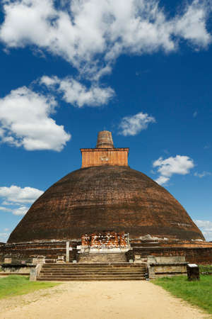 Jetavanaramaya stupa, in Anuradhapura Historical Park, Sri Lanka Stock Photo - 109715702