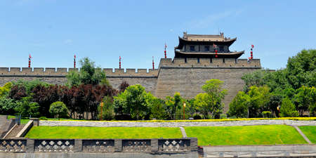 Gate of the old city wall of Xiang, Shanxi, China