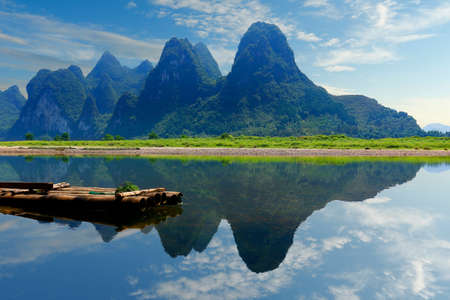 view of yulong river, near xingping, china Stock fotó