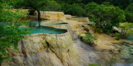 Natural blue pool, Huanglong, Sichuan, China