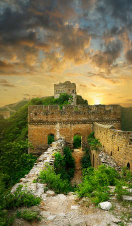 Sunset on the wall of China, Jinshanling