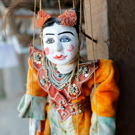 Traditional puppet of myanmar