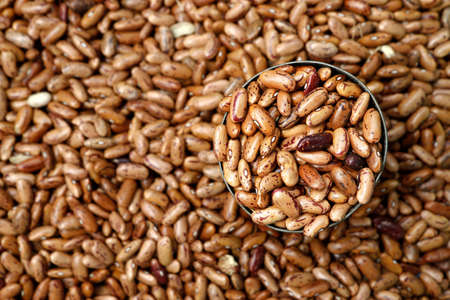 Dry beans, cereals, sold in market